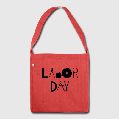 Labor Day - Schultertasche aus Recycling-Material