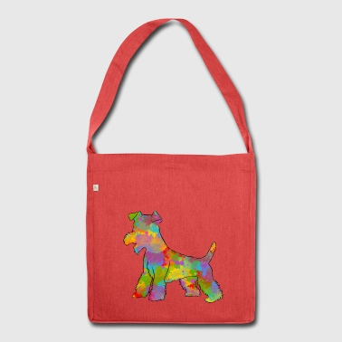 Welsh Terrier Multicolored - Shoulder Bag made from recycled material