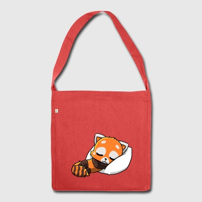 Roter Panda am schlafen - Shoulder Bag made from recycled material