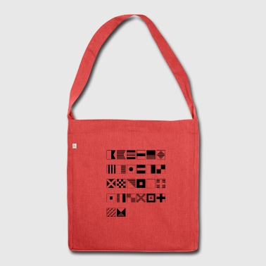 Nautical alphabet - Shoulder Bag made from recycled material