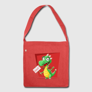 Hollow the funny monster - Shoulder Bag made from recycled material