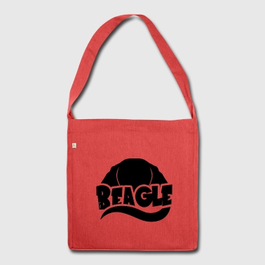 Beagle Silhouette - Schultertasche aus Recycling-Material