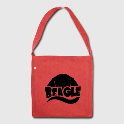 Beagle Silhouette - Shoulder Bag made from recycled material