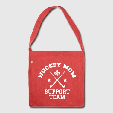 Hockey Mom - Support Team - Schultertasche aus Recycling-Material