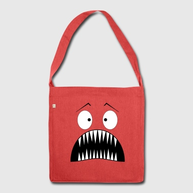 Monster surprised - Shoulder Bag made from recycled material