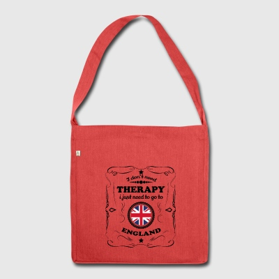 DON T NEED THERAPY GO ENGLAND - Shoulder Bag made from recycled material