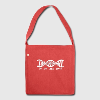 Dns dna evolution hobby gift Machining - Shoulder Bag made from recycled material