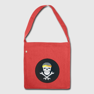 Skull - Schultertasche aus Recycling-Material