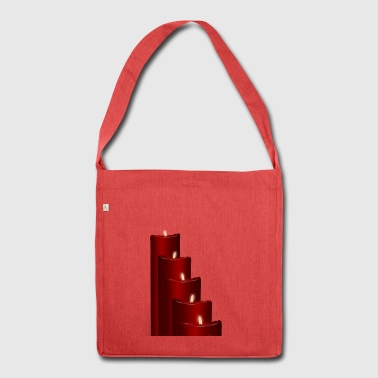 Advent candles - Shoulder Bag made from recycled material