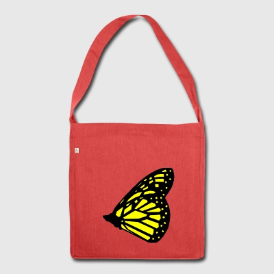 Schmetterling - Schultertasche aus Recycling-Material