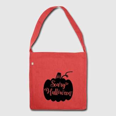 scary halloween pumpkin - Shoulder Bag made from recycled material