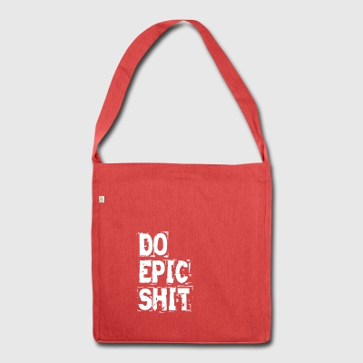 DO EPIC SHIT - Schultertasche aus Recycling-Material
