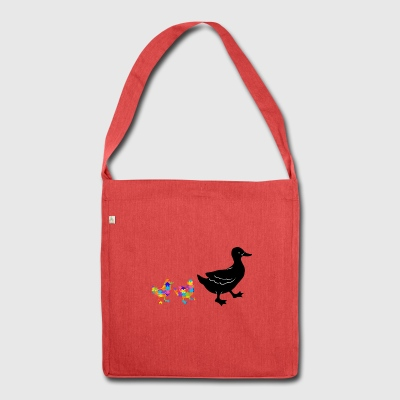 duck autism - Shoulder Bag made from recycled material