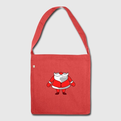 Christmas Santa Costume - Shoulder Bag made from recycled material