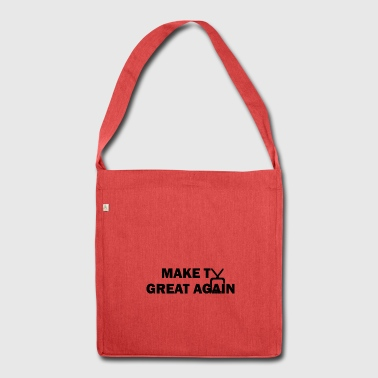 make TV great again black - Schultertasche aus Recycling-Material