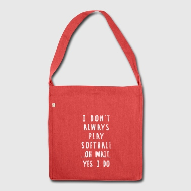 Funny Softball Shirt - Distressed Style - Schultertasche aus Recycling-Material