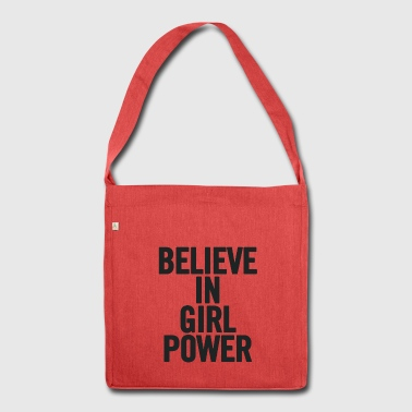 Believe In Girl Power Black - Shoulder Bag made from recycled material
