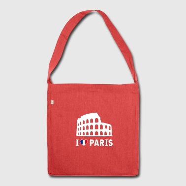 I love Paris fun shirt - Shoulder Bag made from recycled material