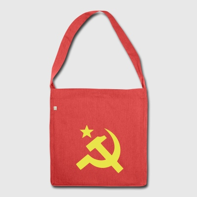 Communist flag Sickle Hammer - Shoulder Bag made from recycled material