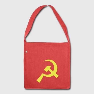 Communist Hammer Sickle Flag - Shoulder Bag made from recycled material