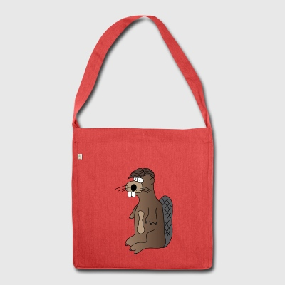 Beaver | Rodent | Wood Forest Nature | hairstyle - Shoulder Bag made from recycled material