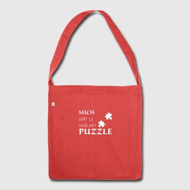 Nur mit Puzzle - Schultertasche aus Recycling-Material