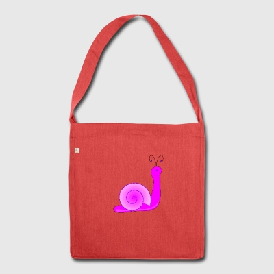 Pink snail - Shoulder Bag made from recycled material