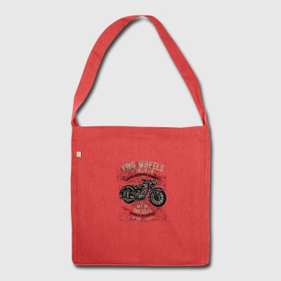Moto Chopper Motociclista Highway Motor Natale - Borsa in materiale riciclato