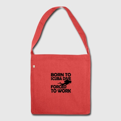 born to scuba dive - Schultertasche aus Recycling-Material