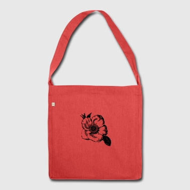 Flower illustration - Shoulder Bag made from recycled material