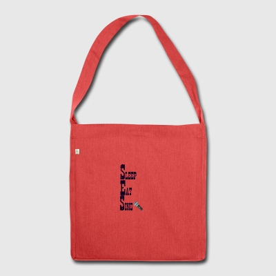 Sleep eat and sing - Shoulder Bag made from recycled material