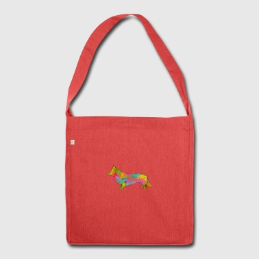 Welsh Corgi Cardigan Multicolored - Shoulder Bag made from recycled material