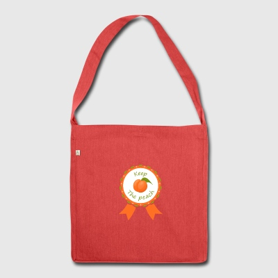 Award Keep the peach - Shoulder Bag made from recycled material