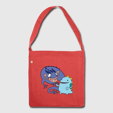 derpy Dragons - Schultertasche aus Recycling-Material