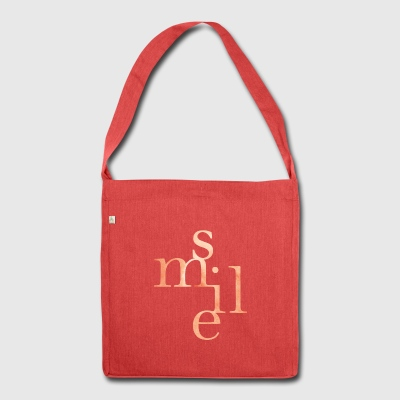 Lettering Smile - Shoulder Bag made from recycled material