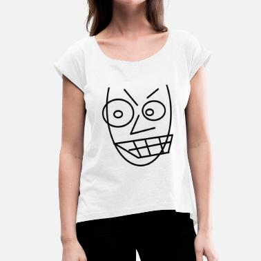 Angry Kid Face is angry Kids love this gift - Women's T-Shirt with rolled up sleeves