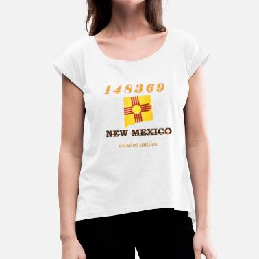 New Mexico New Mexico - Vrouwen T-shirt met opgerolde mouwen