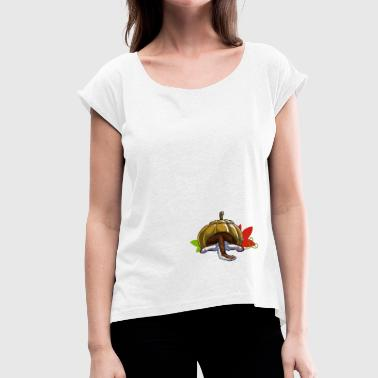If it fits it sits! - Women's T-shirt with rolled up sleeves