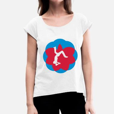 Salto salto jumping tricks - Women's T-Shirt with rolled up sleeves