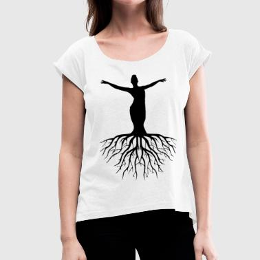 Silhouettes silhouette - Women's T-Shirt with rolled up sleeves