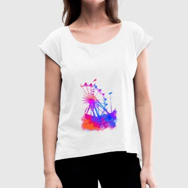 Ferris wheel - Women's T-Shirt with rolled up sleeves
