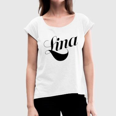 Lina - Women's T-Shirt with rolled up sleeves