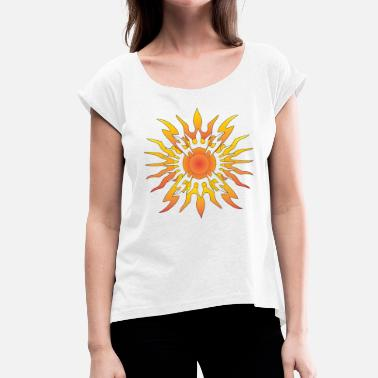 Transcendent Transcendent SUN - Women's T-Shirt with rolled up sleeves