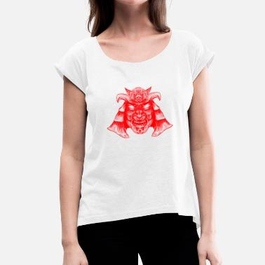 Oriental Samurai - Women's T-Shirt with rolled up sleeves