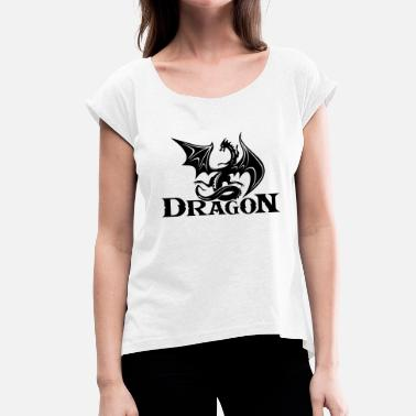 Slayer dragon slayer - Women's T-Shirt with rolled up sleeves