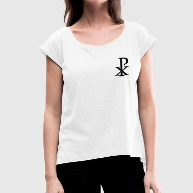 Christusmonogramm - Women's T-Shirt with rolled up sleeves