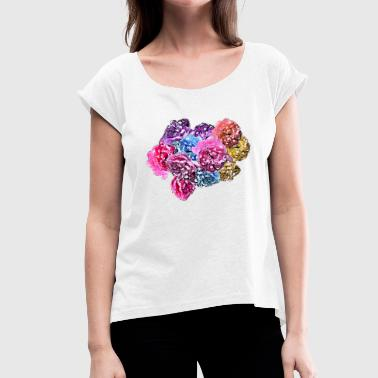 Roses & Roses - Women's T-Shirt with rolled up sleeves
