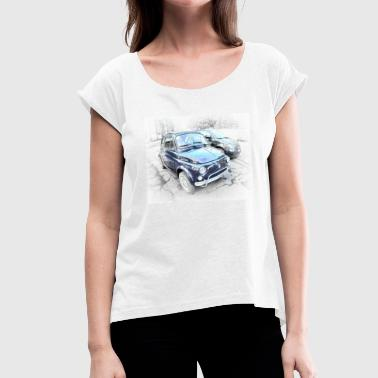 Granddaughter grandmother and granddaughter - Women's T-Shirt with rolled up sleeves