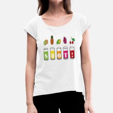 Shot Glass Holiday Drinks SHOT - Women's T-Shirt with rolled up sleeves
