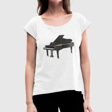 Grand Piano Grand piano - Women's T-Shirt with rolled up sleeves